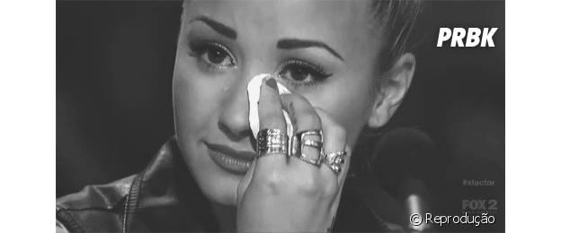 Demi Lovato se emociona com facilidade