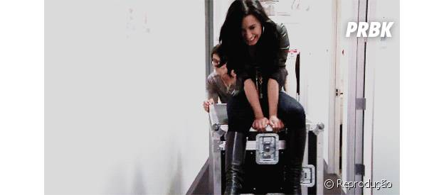 Demi Lovato não se deixa afetar por nada