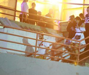 Bruna Marquezine e Neymar em clima de romance, no último domingo (20), em show do Thiaguinho
