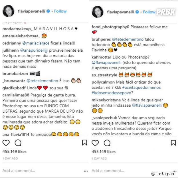 Flavia Pavanelli é acusada de ter feito lipoaspirção
