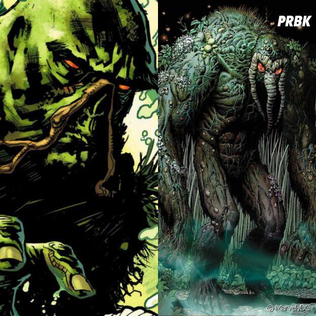 Homem Coisa e Monstro do Pântano tem origem e aparência parecidas, mas seus poderes os diferem