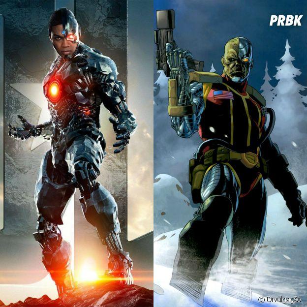 Deathlok e Ciborgue são humanos com modificações corporais para ter funções de máquina