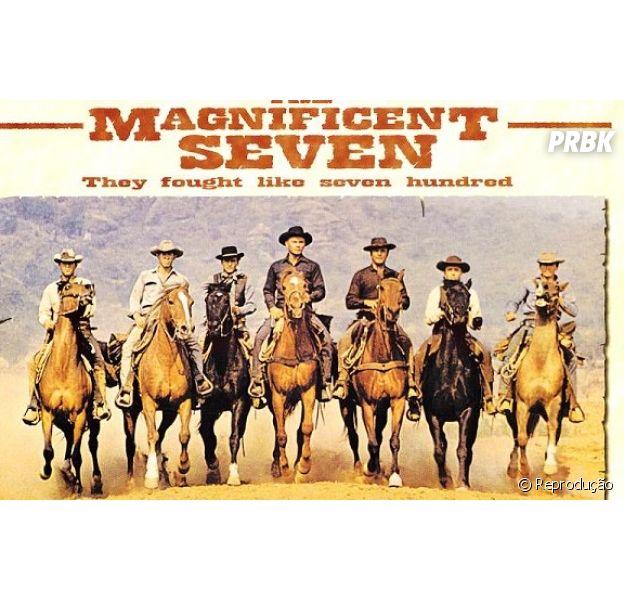 """Poster original de """"Sete Homens e um Destino"""" (The Magnificent Seven)"""