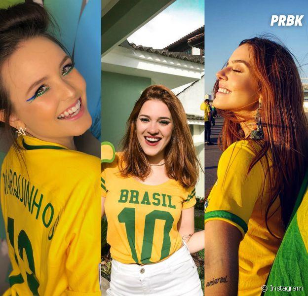 Veja os looks que as famosas estão usando durante a Copa do Mundo