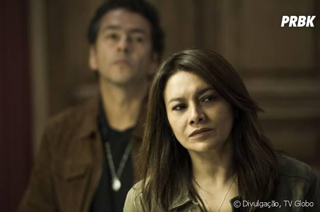 """Quem não gosta de um bom mistério? O delegado Pedroso (Marcos Palmeira) e a inspetora Rosa (Dira Paes) tiveram muito trabalho em """"O Rebu"""""""