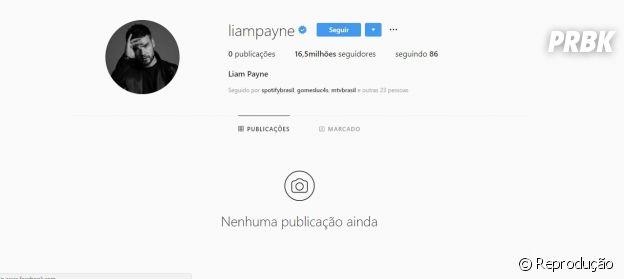 Liam Payne apaga todas as suas fotos do Instagram e acreditam em divulgação para o primeiro álbum solo