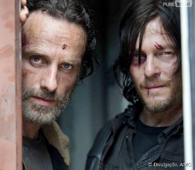 "Os intérpretes de Daryl e Rick, Andrew Lincoln e Norman Reedus, comentam o futuro de ""The Walking Dead"" nesta 5ª temporada"