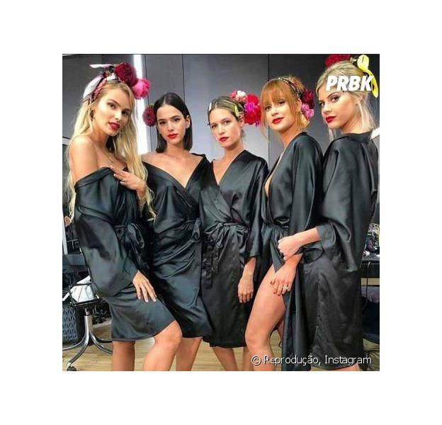Bruna Marquezine e Marina Ruy Barbosa não se falam durante desfile da Dolce & Gabbana, em Milão