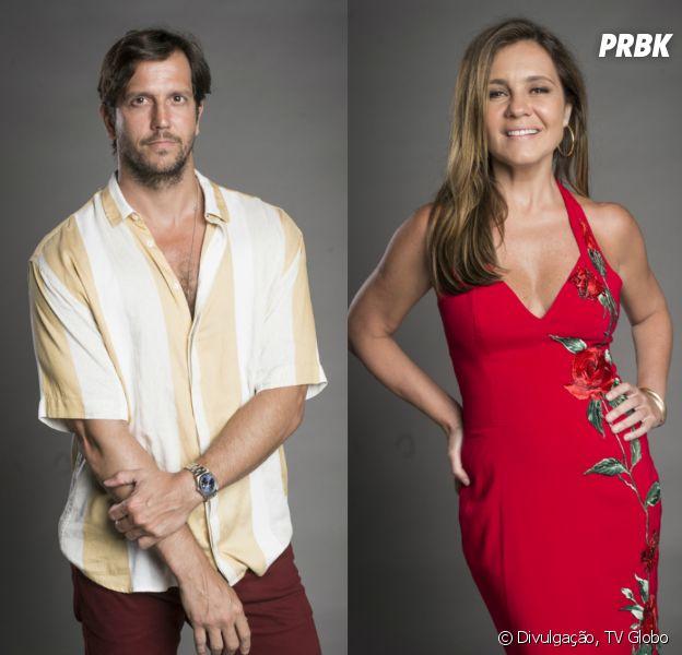 """Em """"Segundo Sol"""": Laureta (Adriana Esteves) conta para Remy (Vladimir Brichta) que é sua irmã"""