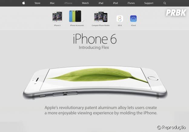 """A imagem coloca a """"flexibilidade"""" do iPhone 6 Plus como se fosse mais um dos novos recursos"""