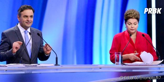 Dilma Rouseff e Aécio Neves, junto a Marina Silva, trocaram acusações no debate da Record entre os candidatos à Presidência da República em 2014