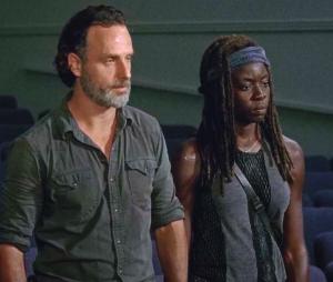 """Em """"The Walking Dead"""", Michonne (Danai Gurira) e Rick (Andrew Lincoln) podem ter um filho na 9ª temporada"""