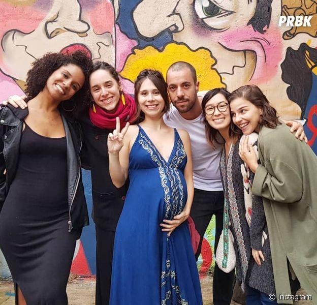 """As Five, de """"Malhação: Viva a Diferença"""", se reencontraram no chá de bebê de Daphne Bozaski"""