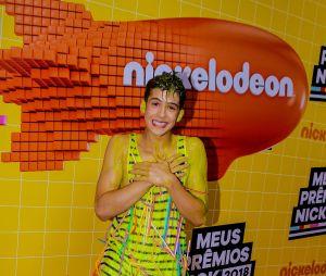 No Meus Prêmios Nick 2018: João Guilherme comandou a cobertura dos bastidores da premiação e tomou o clássico banho de slime