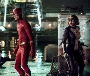 "Em ""The Flash"", Barry (Grant Gustin) e Nora (Jessica Parker Kennedy) lutam contra vilões antigos no 100º episódio"