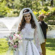 """Veja como a Marocas ficou linda com o seu vestido de noiva em """"O Tempo Não Para"""""""