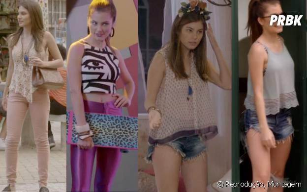 """Bianca usa muitos shorts super curtos e calças coloridas em """"Malhação"""""""