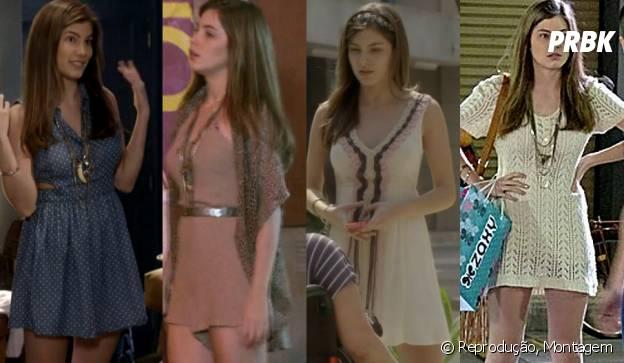 """Bianca também abusa dos vestidos nude em """"Malhação"""""""