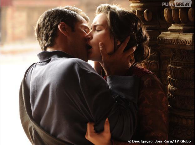 """Franz (Bruno Gagliasso) e Amélia (Bianca Bin) darão um beijo apaixonado em """"Joia Rara""""!"""