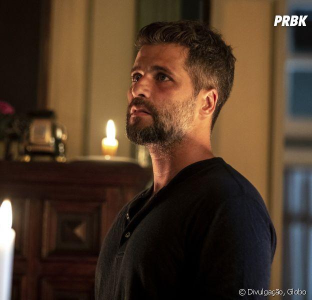 """Em """"O Sétimo Guardião"""": Gabriel (Bruno Gagliasso) declara guerra à Valentina (Lília Cabral) depois de descoberta"""