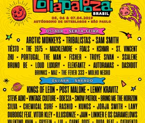 Veja o line-up por dia do Lollapalooza 2019