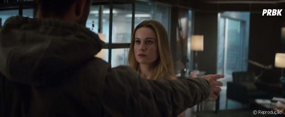 """Pode entrar Carol Danvers (Brie Larson)! Heroína aparece em novo trailer de """"Vingadores: Ultimato"""""""