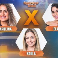 """E aí, quem deve sair do """"BBB19"""": Elana, Paula ou Carolina? Vote!"""