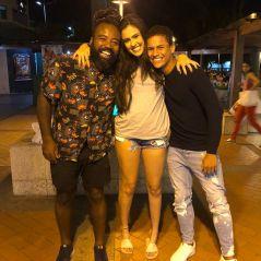 """O encontro entre Hana, Danrley e Rodrigo fora do """"BBB19"""" foi muito fofo e rendeu algumas indiretas"""
