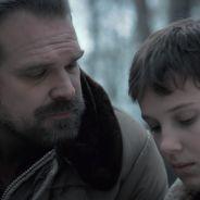 """David Harbour e Millie Bobby Brown também são como pai e filha nos bastidores de """"Stranger Things"""""""