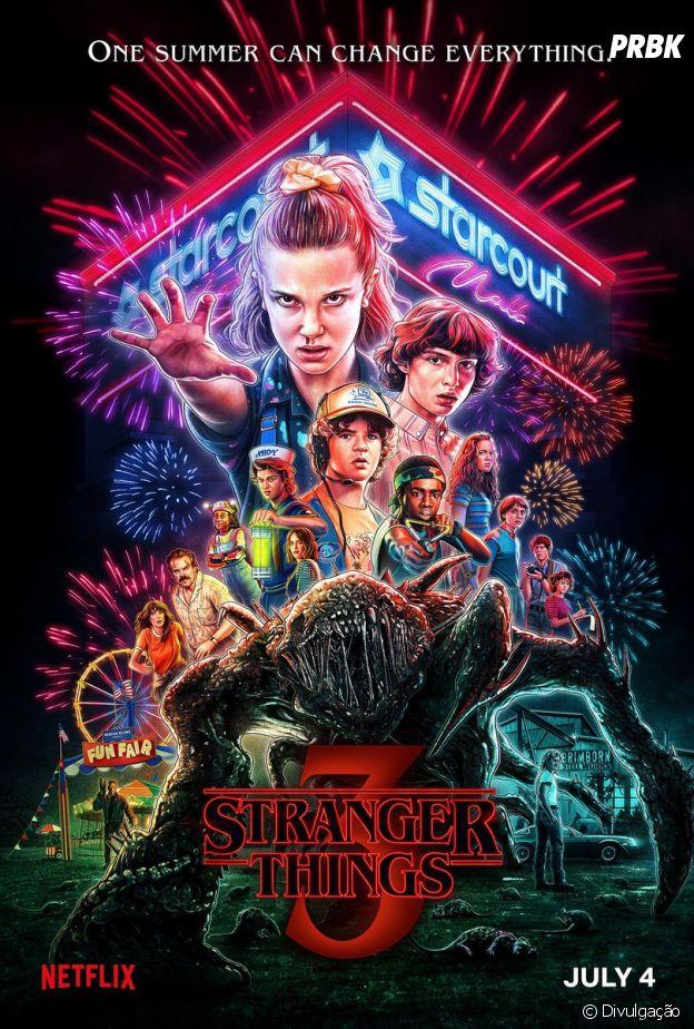 """""""Stranger Things"""": Netflix divulga novo pôster da 3ª temporada"""