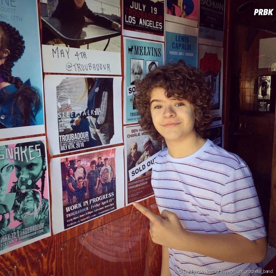 "Gaten Matarazzo, o Dustin de ""Stranger Things"", é vocalista na banda Work In Progress"