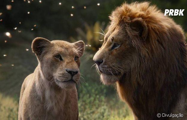 """Em """"O Rei Leão"""", Donald Glover e Beyoncé dublam as versões adultas de Simba e Nala, respectivamente"""