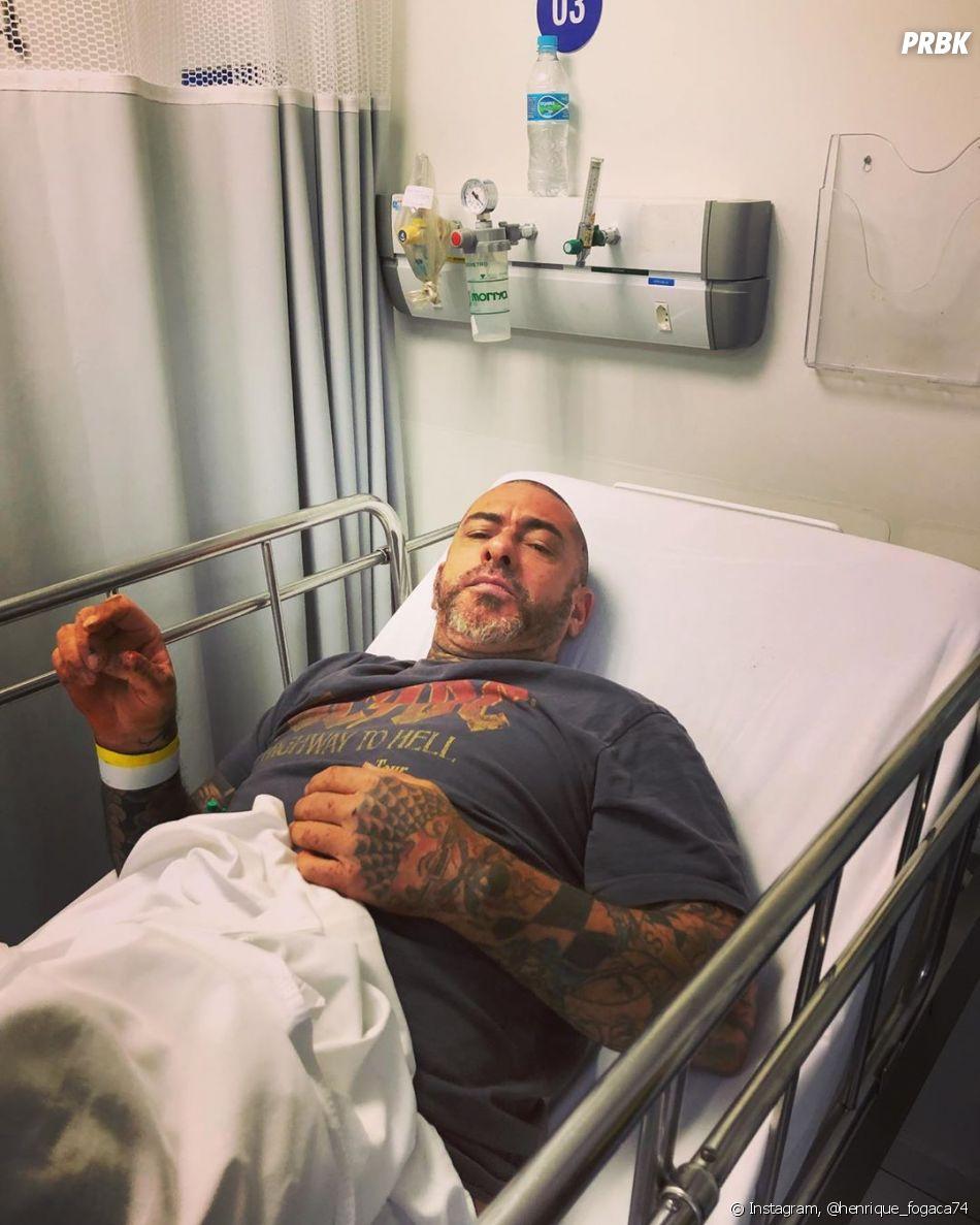 Henrique Fogaça sofre acidente de moto e posta tudo em seu Instagram