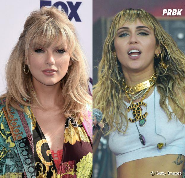 A Taylor Swift e a Miley Cyrus lançaram duas músicas nesta sexta (16) e você tem que votar na melhor