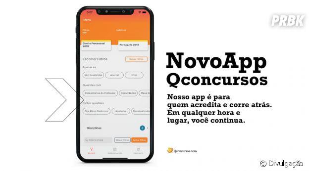 QConcursos é o App que irá te ajudar com os estudos