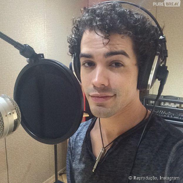 Sam Alves em estúdio para as gravações do seu novo CD