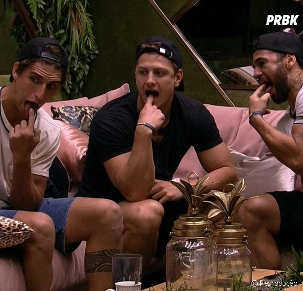 """""""BBB20"""": Hadson, Lucas e Felipe planejam um novo plano"""