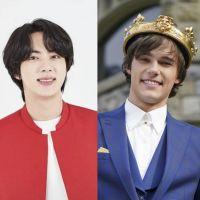 """Jin, do BTS, e Mitchell Hope, astro de """"Descendentes"""", já estudaram juntos!"""