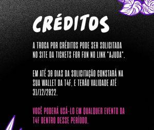 Lollapalooza Brasil 2022: é possível trocar os ingressos por crédito na Ticket For Fun