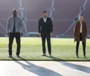 """Lucifer"": na 2ª parte da 5ª temporada, Amenadiel (D.B. Woodside),Lucifer (Tom Ellis) e Chloe (Lauren German) se juntam para lutar contra Miguel (Tom Ellis)"