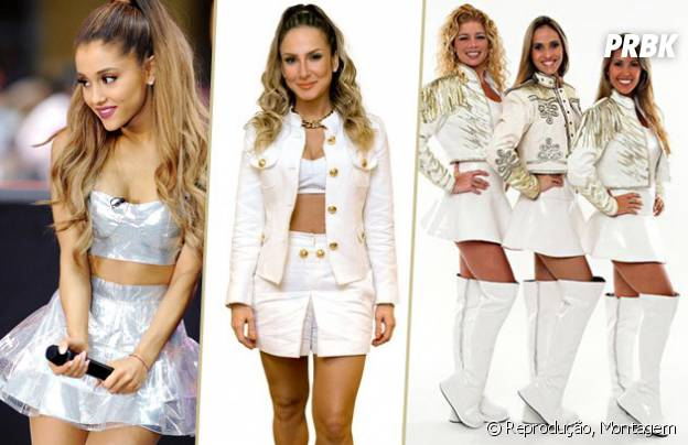 Ariana Grande, Claudia Leitte e Paquitas como mesmo visual
