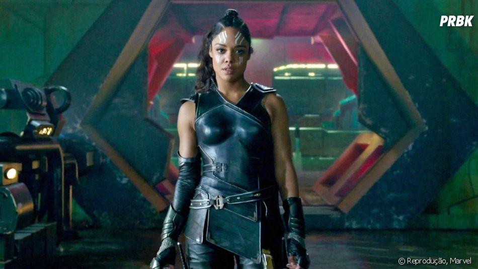 """Valquíria (Tessa Thompson) irá atrás de uma """"rainha"""" para governar ao lado dela em Nova Asgard."""