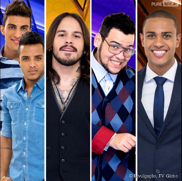 """Danilo Reis e Rafael, Kim Lírio, Lui Medeiros e Romero Ribeiro são os finalistas do """"The Voice Brasil"""""""