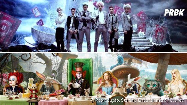 """Grupo de K-pop se inspirou em """"Alice no País das Maravilhas"""" para fazer MV"""