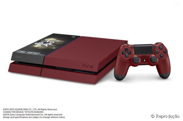 "Edição limitada de PlayStation 4 com tema de ""FINAL FANTASY Type-0 HD"""