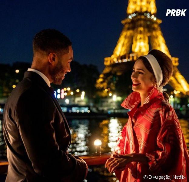 """Alfie (Lucien Laviscount) promete ser o novo interesse amoroso de Emily (Lily Collins) no 2º ano de """"Emily em Paris"""""""