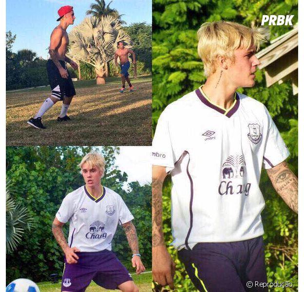 Justin Bieber quebra o pé enquanto joga futebol no Reino Unido