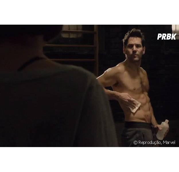"""Paul Rudd sem camisa no trailer de """"Homem-Formiga"""""""