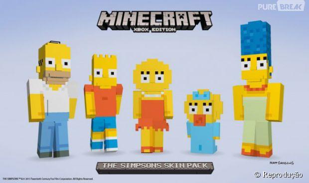 game minecraft os simpsons jogo ganha conteúdo do desenho