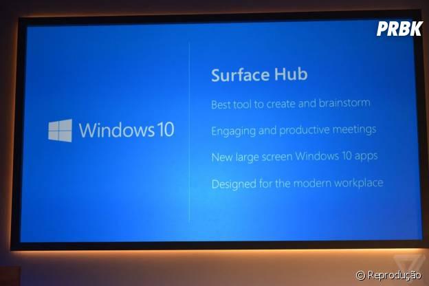 Nova aparelho da Microsoft: Surface Hub possui 84 polegadas e tela sensível ao toque
